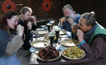 Rift om vikingebuffeten ved årets vikingespil